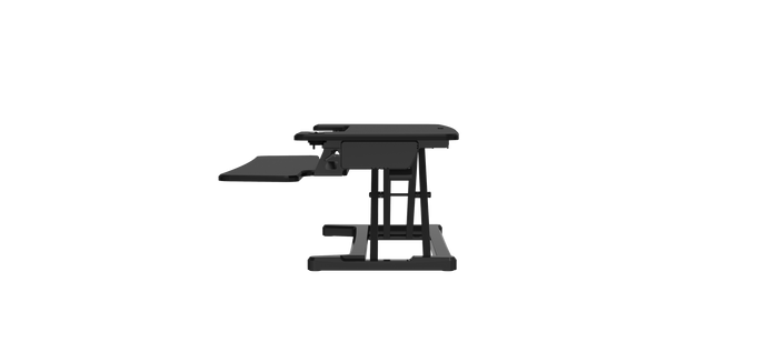 Buy Rapidline Rapid Flux Electric Desk Riser - Small or Medium RF1 RF2 with FREE SHIPPING desk converter, desk riser, height adjustable black