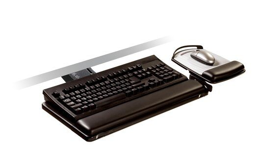 BUY 3M  AKT180LE Sit/Stand Easy Adjust Keyboard Tray FREE SHIPPING