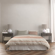 Load image into Gallery viewer, Mauve and Grey Colorblock Duvet Set