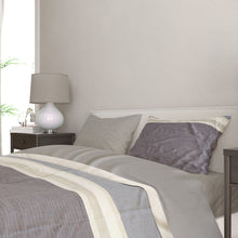 Load image into Gallery viewer, Blue and Grey Colorblock Duvet Set