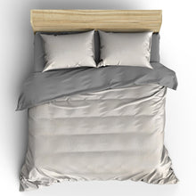 Load image into Gallery viewer, Textured Ivory Duvet Set