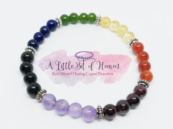 Chakra Bracelet 6mm Reiki Infused Crystal Stretch Bracelet