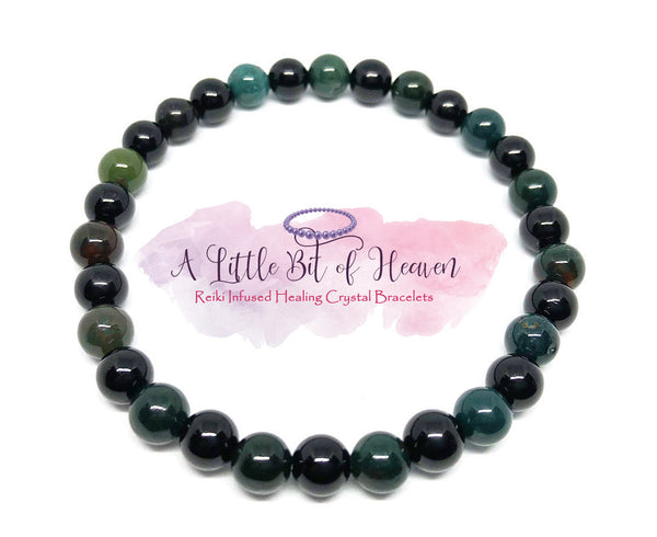 Internal Detoxing, Healing & Pain Relief  - 6mm Reiki Infused Crystal stretch bracelet