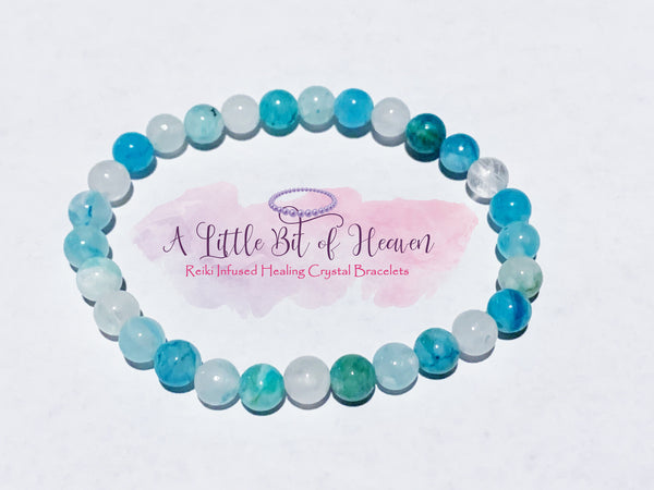 Hemimorphite 6mm Crystal Stretch Bracelet