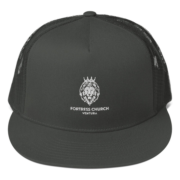 Mesh Back Snapback (White Lion)