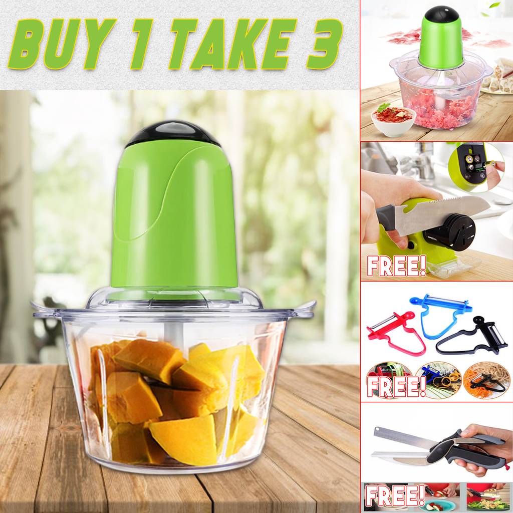 All in One Food Processor with 3 FREEBIES
