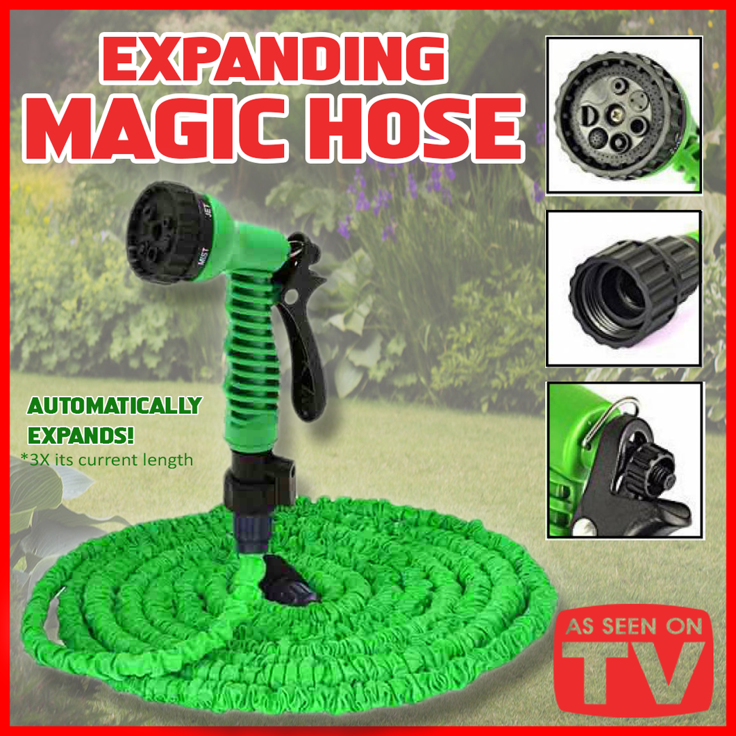 MAGIC EXPANDABLE HOSE W/ SPRAY GUN ( 100ft / 30.5m )
