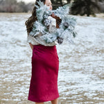 Cranberry Slip Skirt