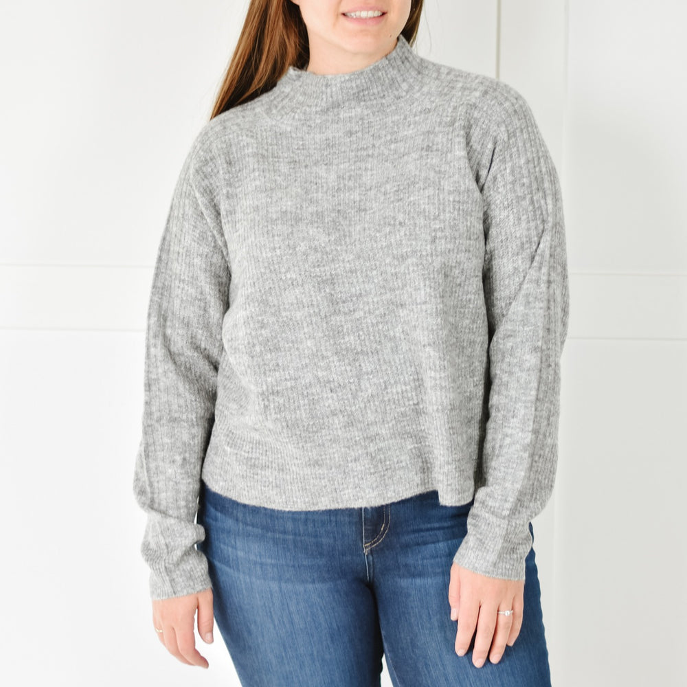 Smoke Mockneck Sweater