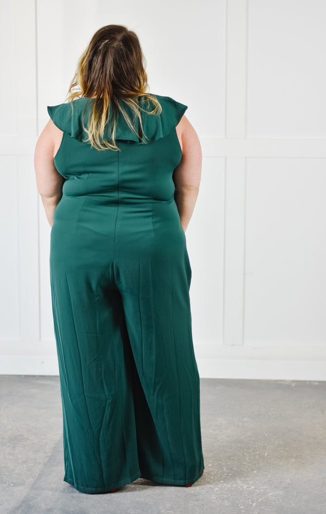 Emerald Ruffle Jumpsuit |1XL-3XL|