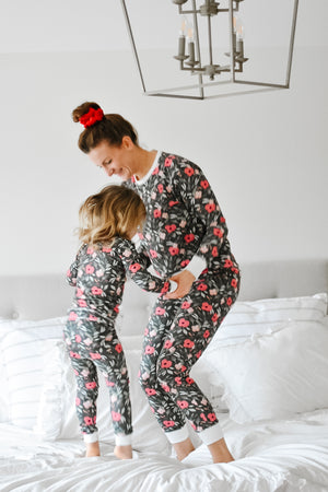 Kids Jammies- Pine Floral