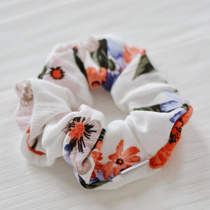 Palm Springs Floral Scrunchie