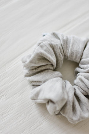 Grey Jersey Scrunchie