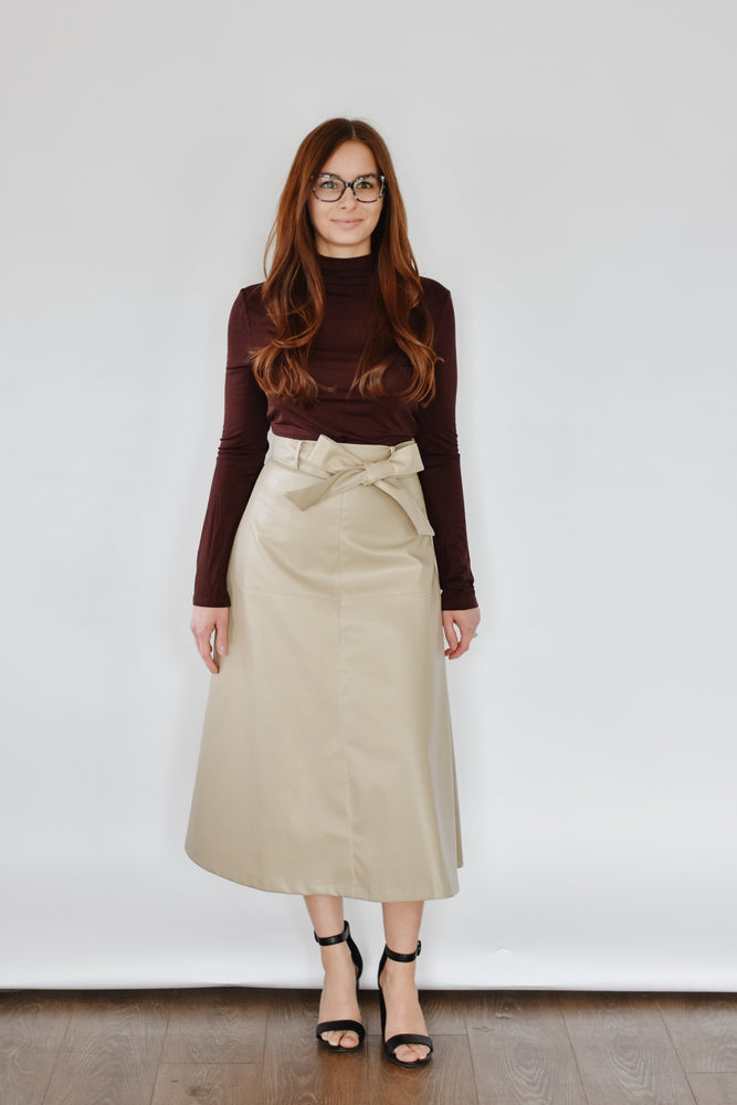 Shelley Vegan Leather Skirt