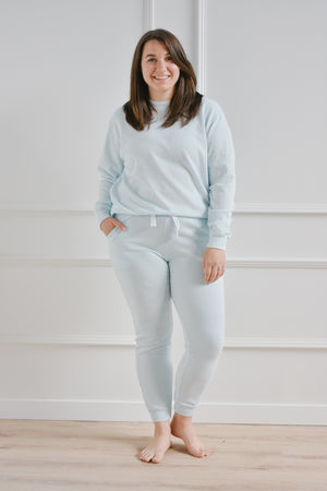 French Terry Sweatpant-Sky