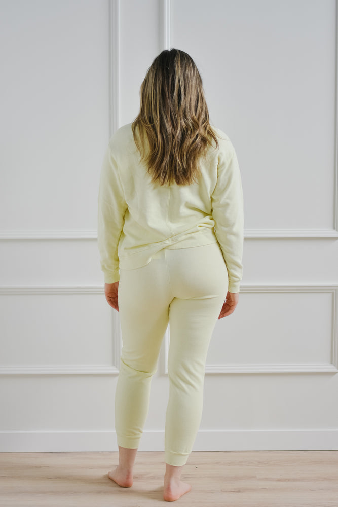 French Terry Sweatpant-Limeade