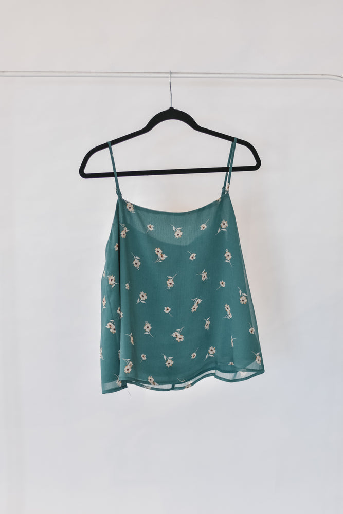 Green Floral Cami