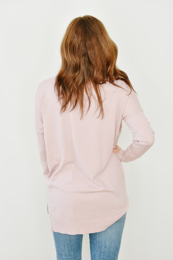 V-Neck Dreamers-Dusty Rose