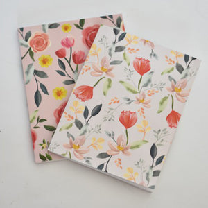 Coral Floral Notebook