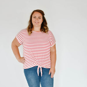 Curve-Nautical Knot Tee (Red)