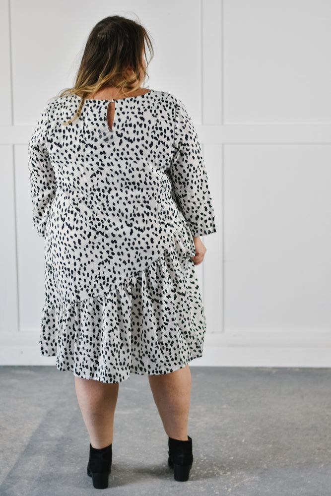 Dotted Swing Dress |1X-3X|