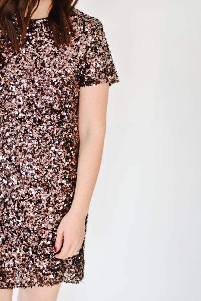 Plum Sequin Shift