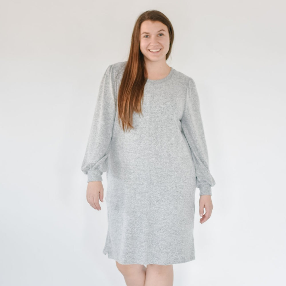 Cozy Brushed Sweater Dress