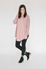 Boatneck Dreamers Knit-Rose