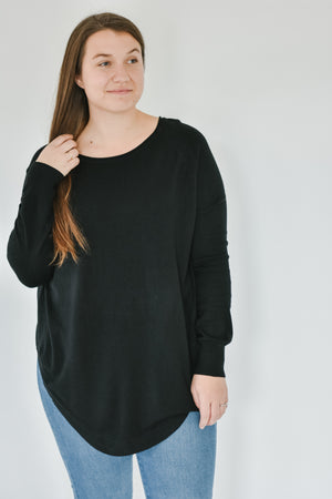 Boatneck Dreamers Knit-Black