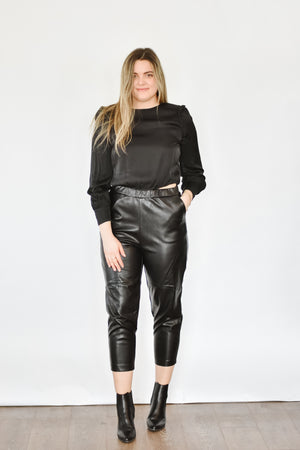 Satin Cropped Blouse
