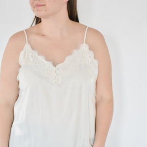 Classic Lace Cami -Ivory |XL-2X|