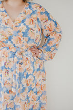 Blue & Peach Watercolour Midi |S-3XL|
