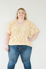 Sunshine Floral Blouse |1XL-3XL|