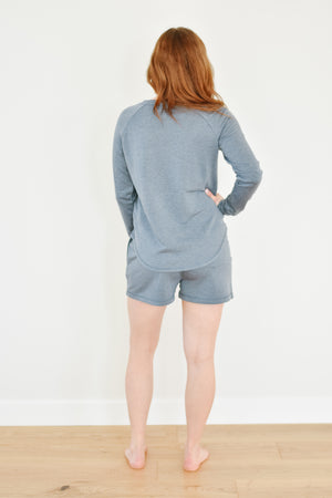 Unwind Sweatshirt-Washed Indigo