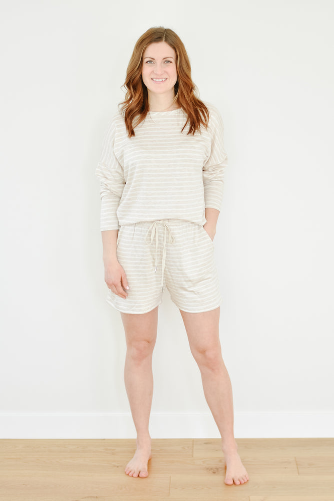 Almond Striped Short
