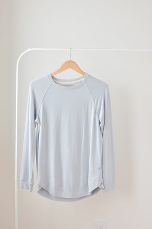 Bronwyn Scoop Top-Misty Blue