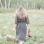 Smocked Floral Peasant Dress