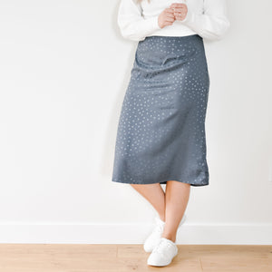 Slate Dot Slip Skirt