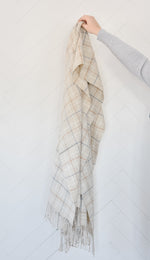 Oatmeal Windowpane Scarf