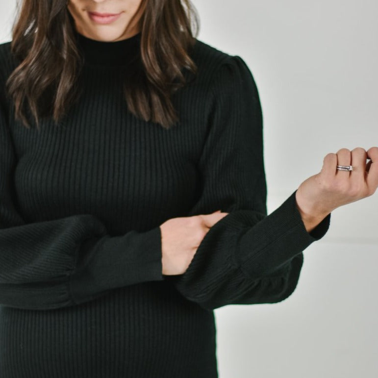 Mock Neck Sweater Midi