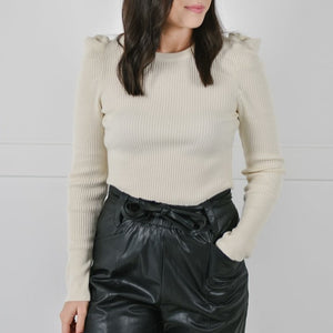 Puff Sleeve Sweater (Cream)