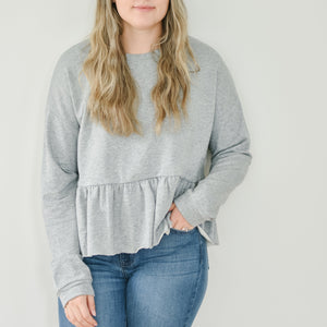 Peplum Sweatshirt (Grey)
