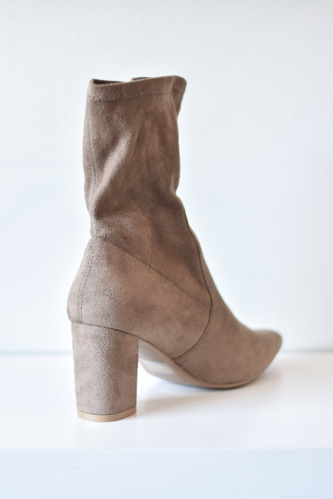 Amiya Sock Boot (Taupe)