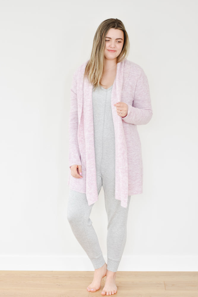 Heathered Lilac Knit Cardigan