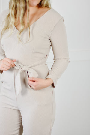 Wrap Jumpsuit (Bone)