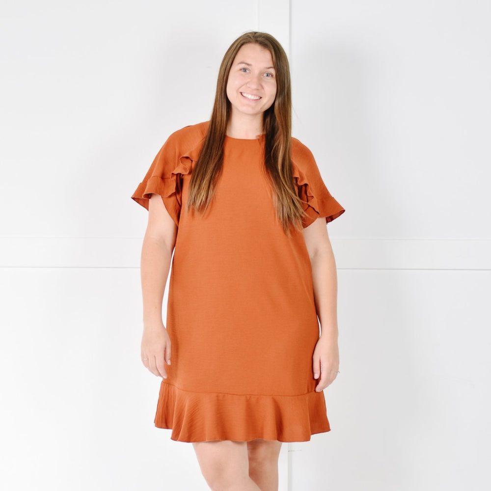 Ruffle Tee Mini (Rust)