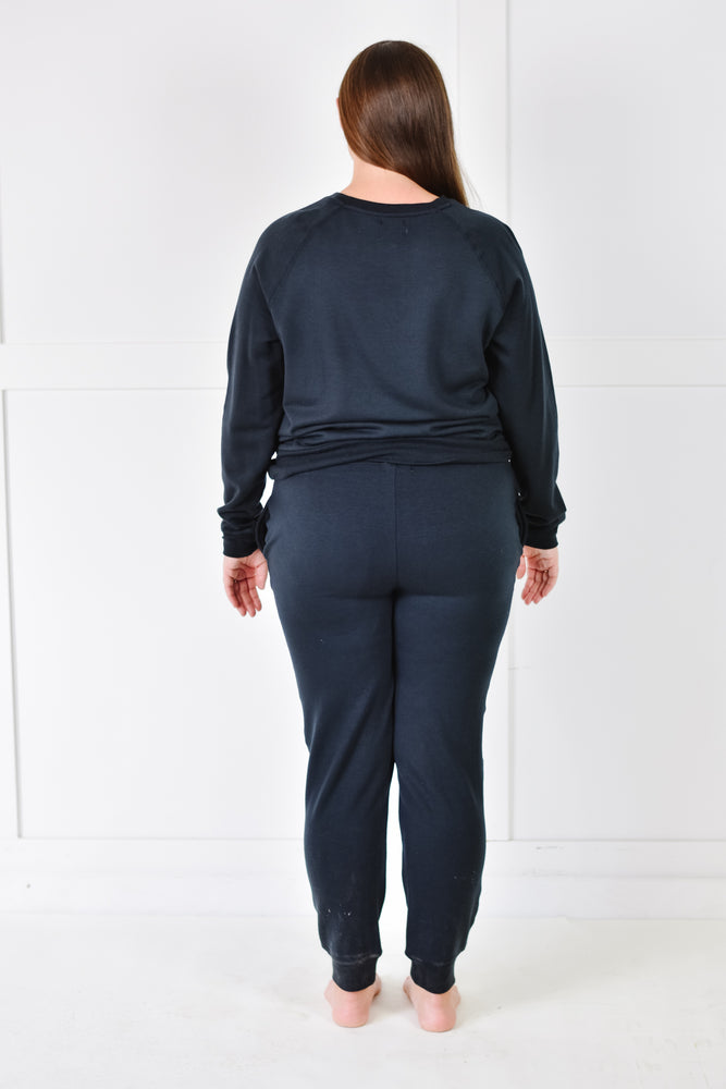 Jacey Fleece Jogger (Midnight)