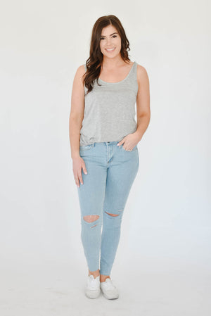 Emma's Scoop Tank (Grey)