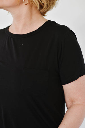 Emma's Pocket Tee (Black)