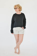 The Weekend Baseball Sweater (Black)